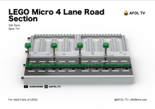 Load image into Gallery viewer, LEGO Micro Road Section (4 Lanes) Instructions
