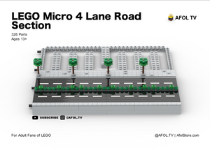 LEGO Micro Road Section (4 Lanes) Instructions