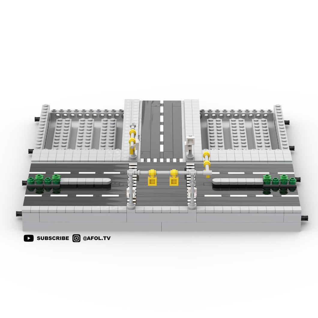 LEGO Micro T Road Section (4 Lanes) Instructions
