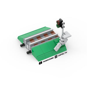 LEGO Micro Premium Train Track with Signal Instructions