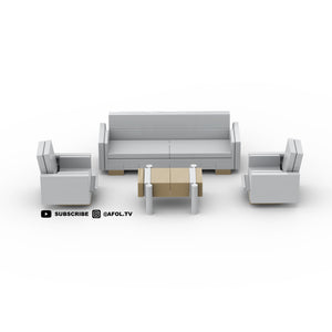 LEGO Midcentury Modern Living Room Furniture Instructions
