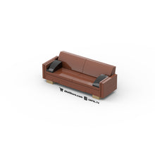 Load image into Gallery viewer, LEGO Midcentury Modern 'Leather' Couch Instructions (Sloped Back)