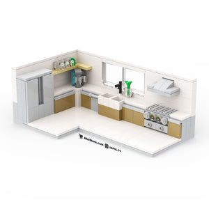 LEGO Intermediate Modern Kitchen Buildout Instructions
