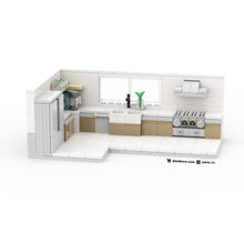 Load image into Gallery viewer, LEGO Intermediate Modern Kitchen Buildout Instructions