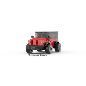 LEGO Lifted Jeep Instructions (Red)