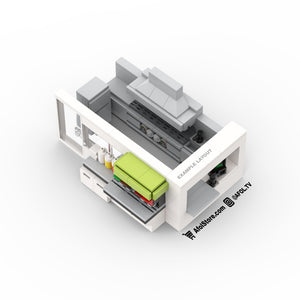 LEGO Commercial Kitchen Buildout Instructions (Shake Shack Style)