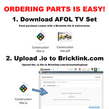 Load image into Gallery viewer, LEGO Commercial Kitchen Buildout Instructions (Shake Shack Style)