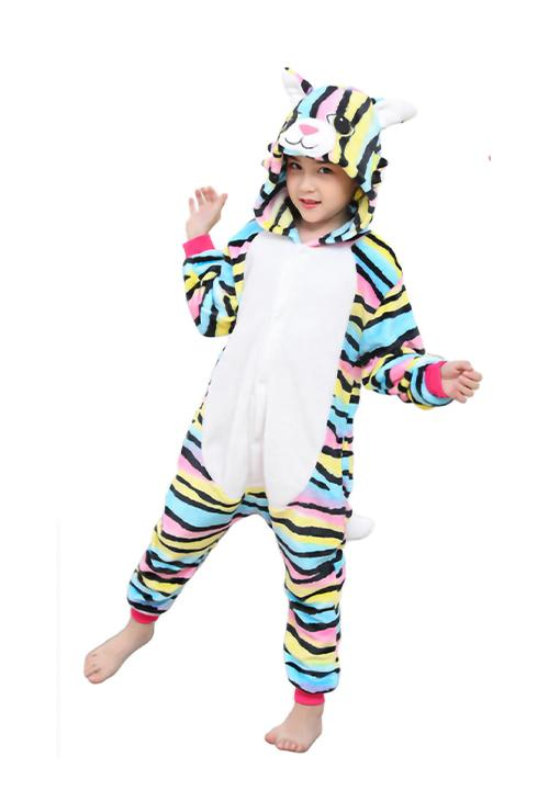 Combinaison Pyjama <br> Chat Multicolore