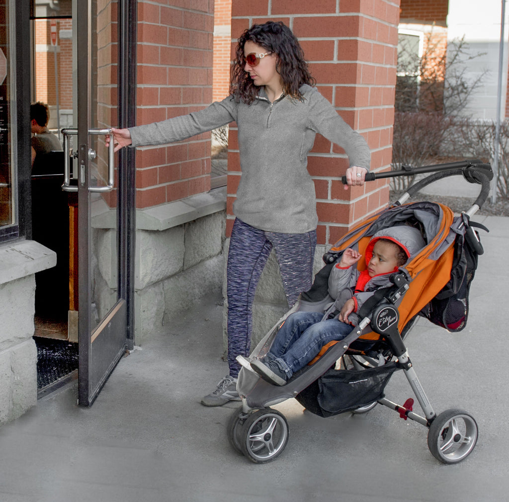 Open your own doors even with a stroller.