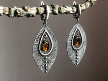Load image into Gallery viewer, Dravite Tourmaline Silver Earrings