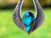 Load image into Gallery viewer, Teardrop Turquoise Silver Earrings