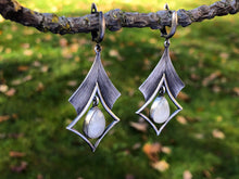 Load image into Gallery viewer, Moonstone Sterling Silver Earrings