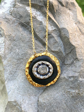 Load image into Gallery viewer, Raw Diamond Round Pendant