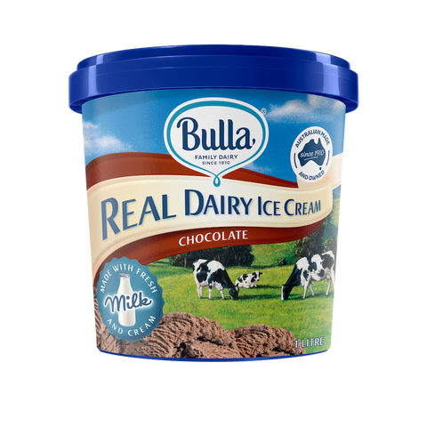 Real Dairy Chocolate Ice Cream 1L