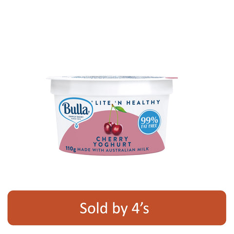 Cherry Low Fat Yogurt 110g x 4