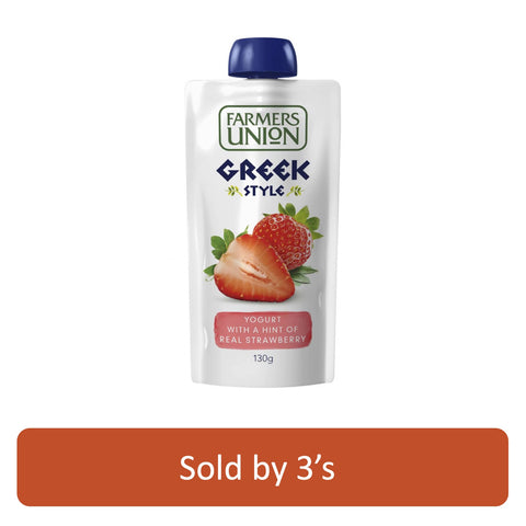 Farmers Union Strawberry Yogurt 130g X 3