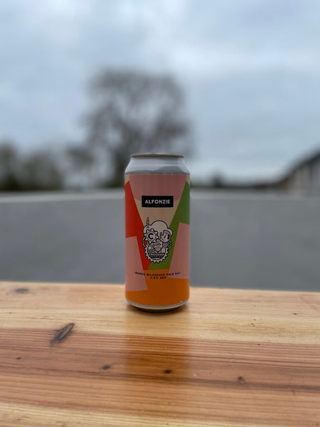 Alfonzie from Crooked Brewing -  4.8% Mango Milkshake Pale Ale - 440ml Can