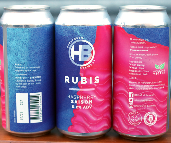Rubis - 6.2% Raspberry Saison - 440ml Can