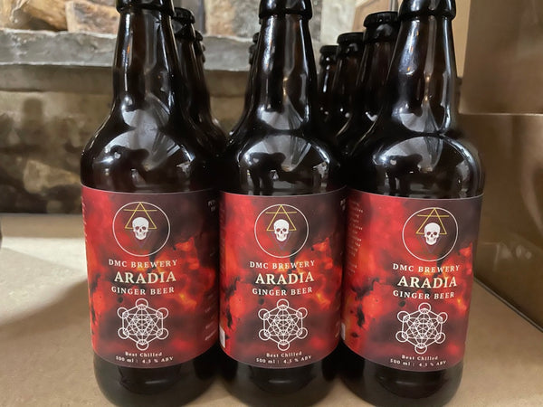 Aradia Alcoholic Ginger Beer - 5% - 500ml Bottle