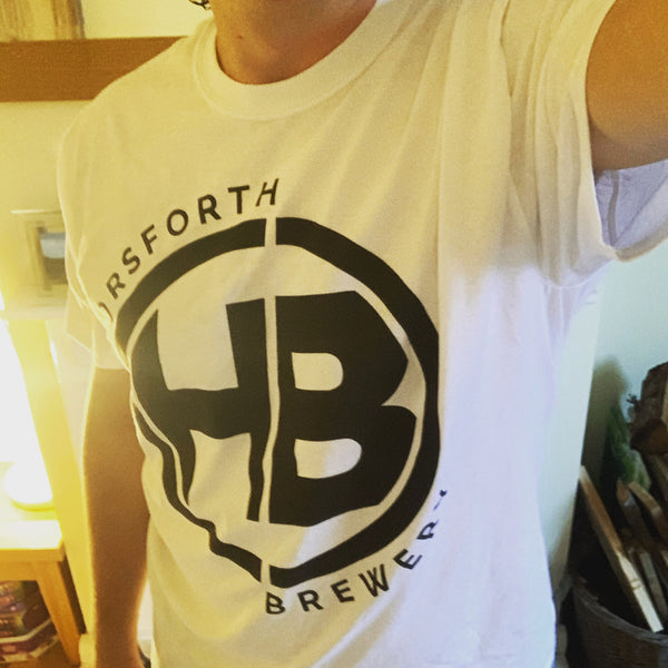 Horsforth Brewery Logo T-Shirt - White