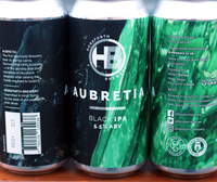 Aubretia - 5.5% Black IPA - 440ml Can