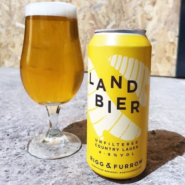 Rigg & Furrow's Land Bier -  4.8% Unfiltered Northumberland Lager - 440ml Can