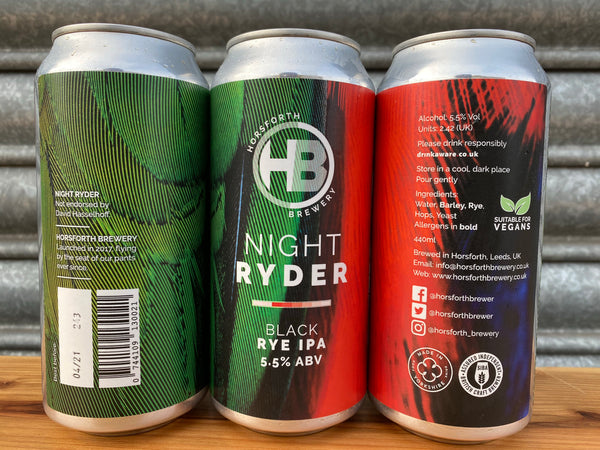 Night Ryder - 5.4% Black Rye IPA - 440ml Can