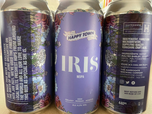 Harrogate Brewing's Iris - 6.3% NEIPA - 440ml Can