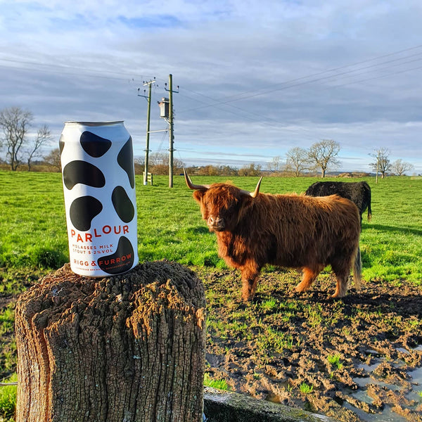 Rigg & Furrow's Parlour -  5.2% Molasses Milk Stout - 440ml Can