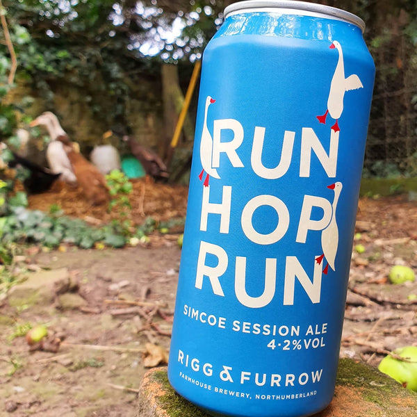 Rigg & Furrow's Run Hop Run -  4.2% Simcoe Session Ale - 440ml Can