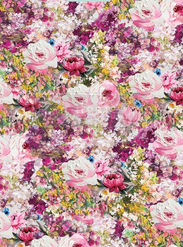 Redesign Decoupage Rice Paper- Fuchsia Meadow