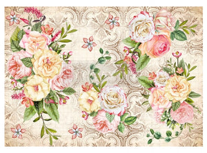Redesign Decoupage Rice Paper- Amiable Roses