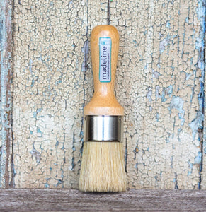 Madeline Flat Head Natural Bristle Wax Brush