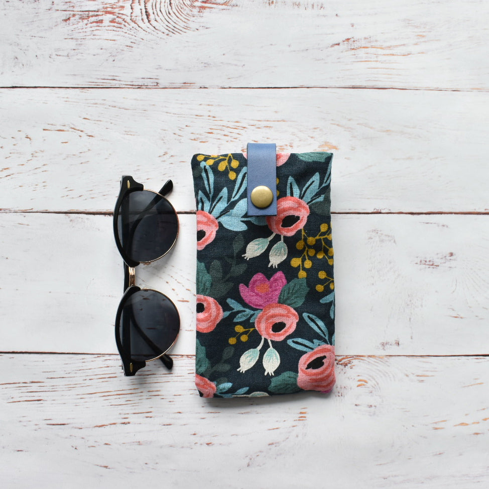 Canvas & Leather Glasses Case