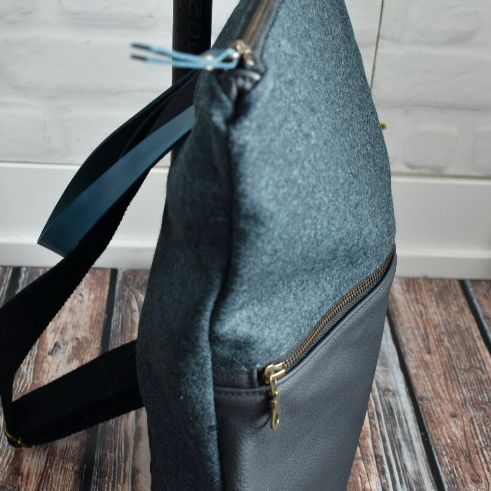 MUNC Felt and Leather Backpack