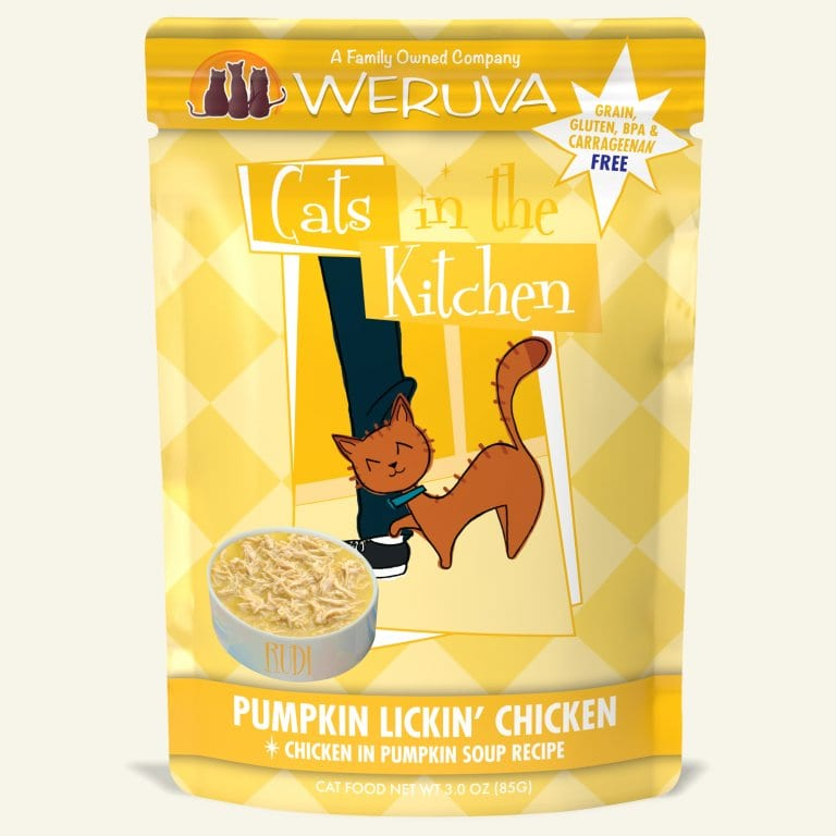 WERUVA CIK PUMPKIN CHICKEN CAT POUCH 3OZ