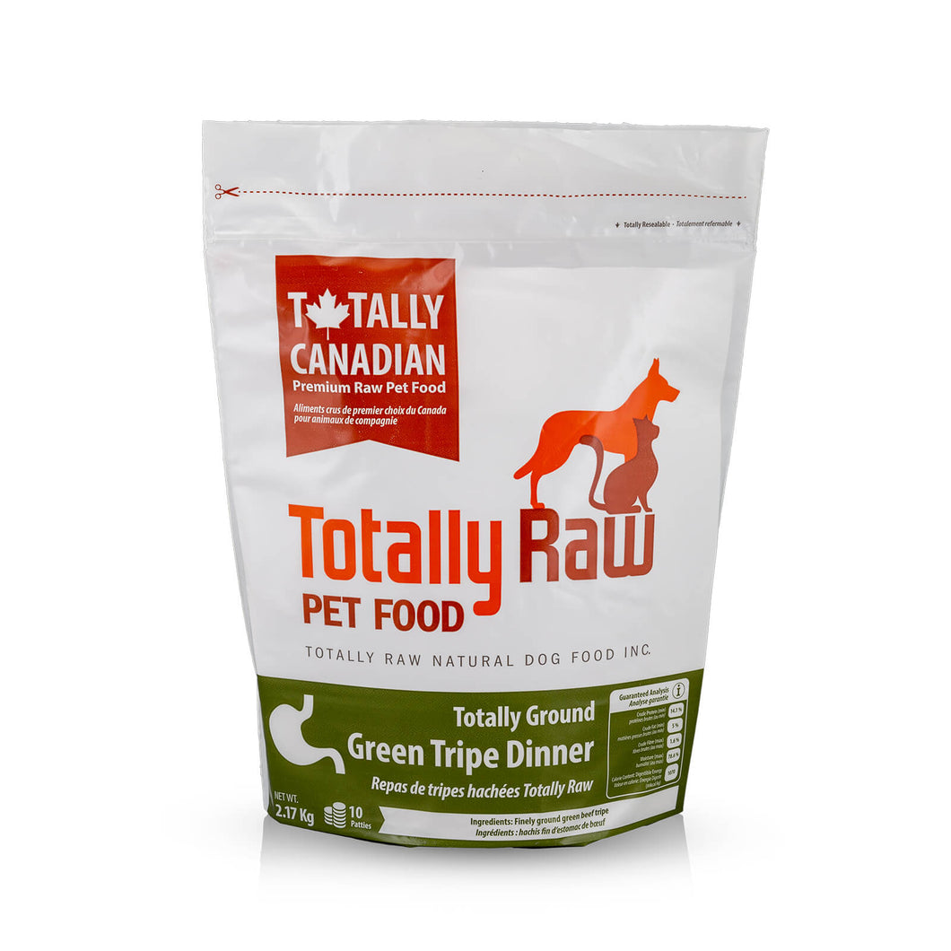 TOTALLY RAW GRN TRIPE 10 PATTY BAG 4.8LB