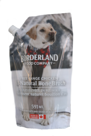 BORDERLAND BONE BROTH CHICKEN 591ML