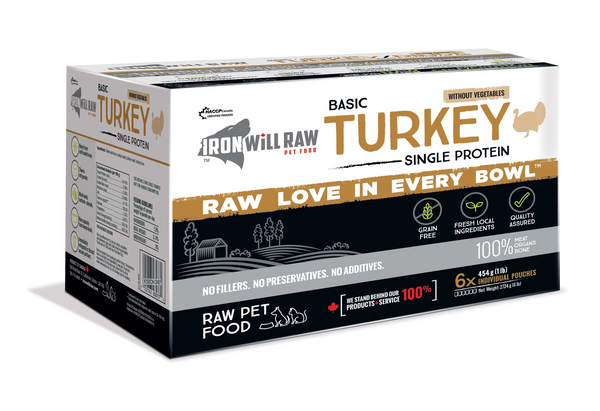 IRON WILL RAW BASIC TURKEY 6LB