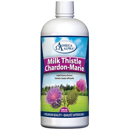 OMEGA ALPHA MILK THISTLE 500ML