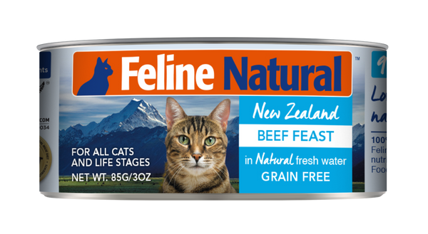 FELINE NATURAL BEEF CAN 85G