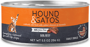 HOUND & GATOS BEEF CAT CAN 5.5OZ