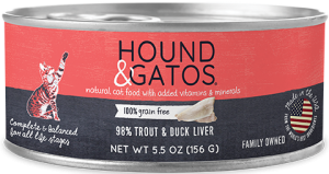 HOUND & GATOS TROUT/DUCK CAT CAN 5.5OZ