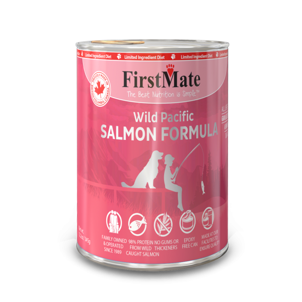 FIRST MATE SALMON DOG CAN 12.2OZ
