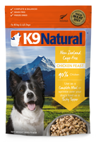K9 NATURAL CHICKEN FREEZE DRIED 500G