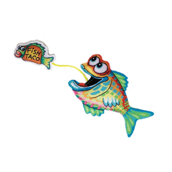 FUZZU FAST FOOD FISH & TACO CAT TOY
