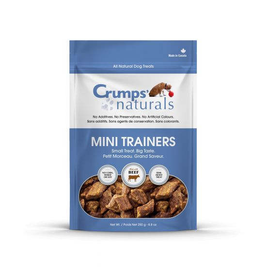 CRUMPS MINI TRAINER BEEF 250G