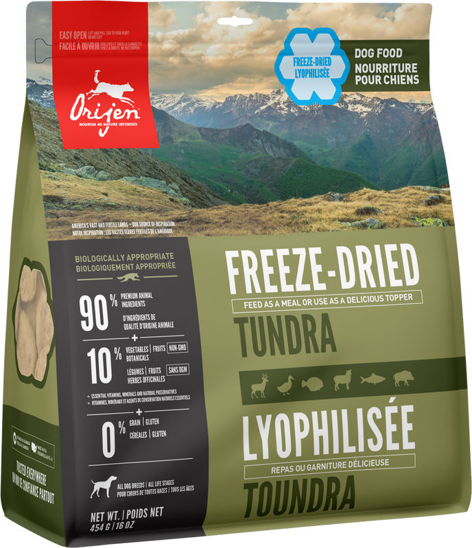 ORIJEN FREEZE DRIED TUNDRA 454G