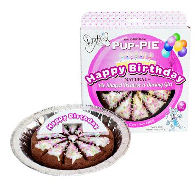 LAZY DOG PUP PIE BIRTHDAY GIRL 6""