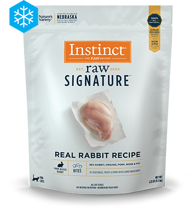 NV SIGN RAW BITES RABBIT CAT .57KG
